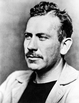 a photograph of the author John Steinbeck