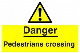 pedestrians danger sign