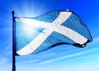 Photograph of a Scottish Flag