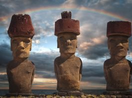 image of easter islands heads
